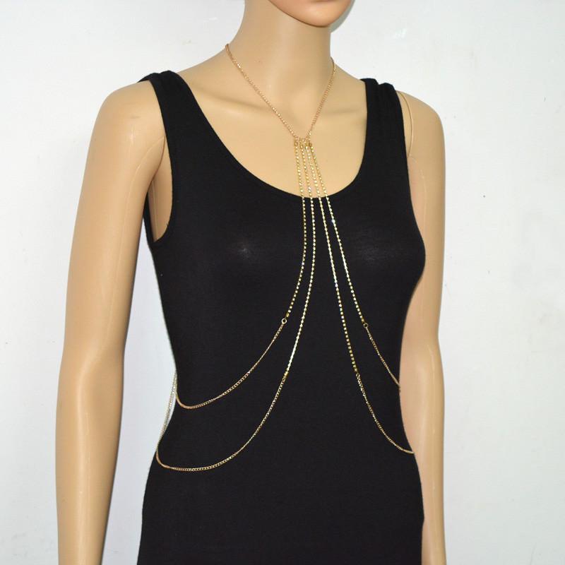 1984-bc4dfc0e5f561d82afa8e051eaa11af2 Multi-layer Rhinestone Crystal Rihanna Body Chain Necklace For Women