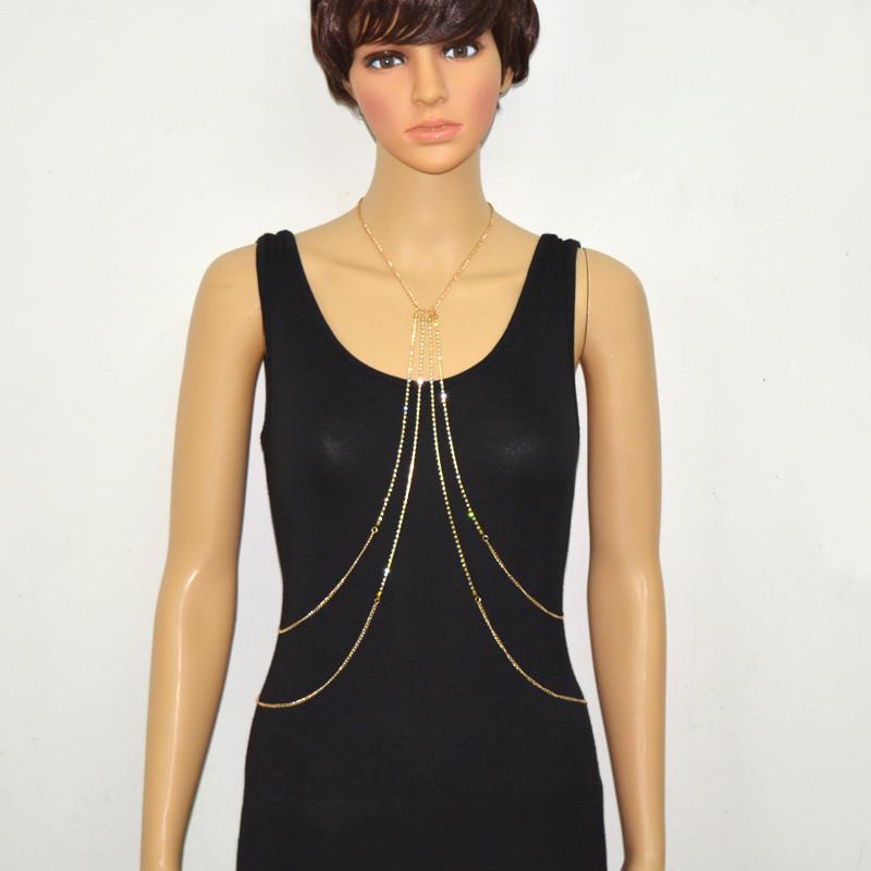 1984-e66661db6816b7797fde096179cf817b Multi-layer Rhinestone Crystal Rihanna Body Chain Necklace For Women
