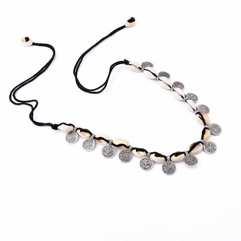 19841-71012e9ac1bcc3b41605498f085ee71e Tribal Coin And Shell Choker Necklace Or Anklet Bracelet For Women