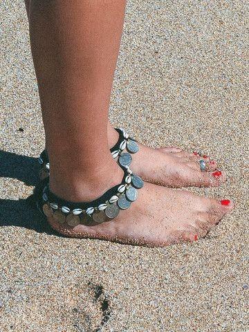 19841-8852847160861b1e59b597110e1fe468 Tribal Coin And Shell Choker Necklace Or Anklet Bracelet For Women