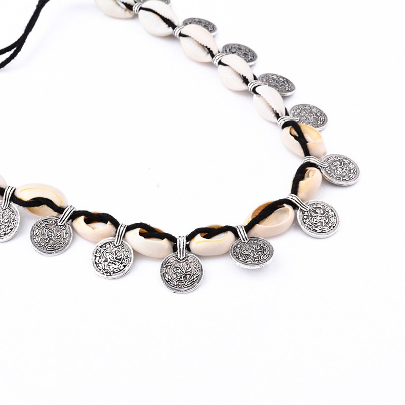 19841-a37651224cd3bd06d0d0cd64b148645f Tribal Coin And Shell Choker Necklace Or Anklet Bracelet For Women