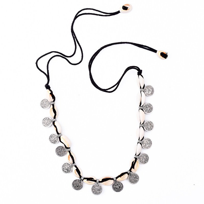 19841-fb89fec06ab369c66f19a4426be60476 Tribal Coin And Shell Choker Necklace Or Anklet Bracelet For Women