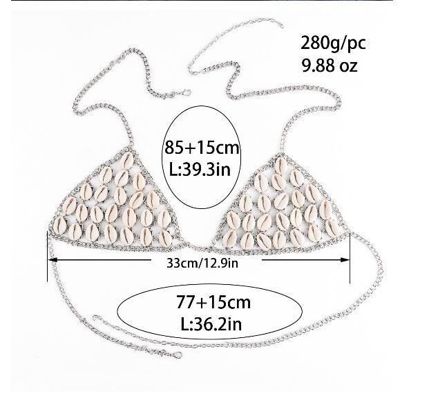 19843-bea4a4b7065b2afdd5efcc9788b1c84c Sexy Summer Natural Shell Mesh Body Chain Harness Bikini Top