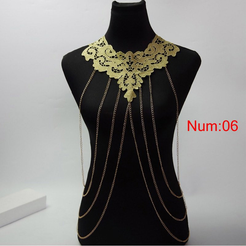 1988-486453ab31e77eac08e9ac7756b5b35f Elegant Party Gold/ Black Lace Necklace With Body Chain