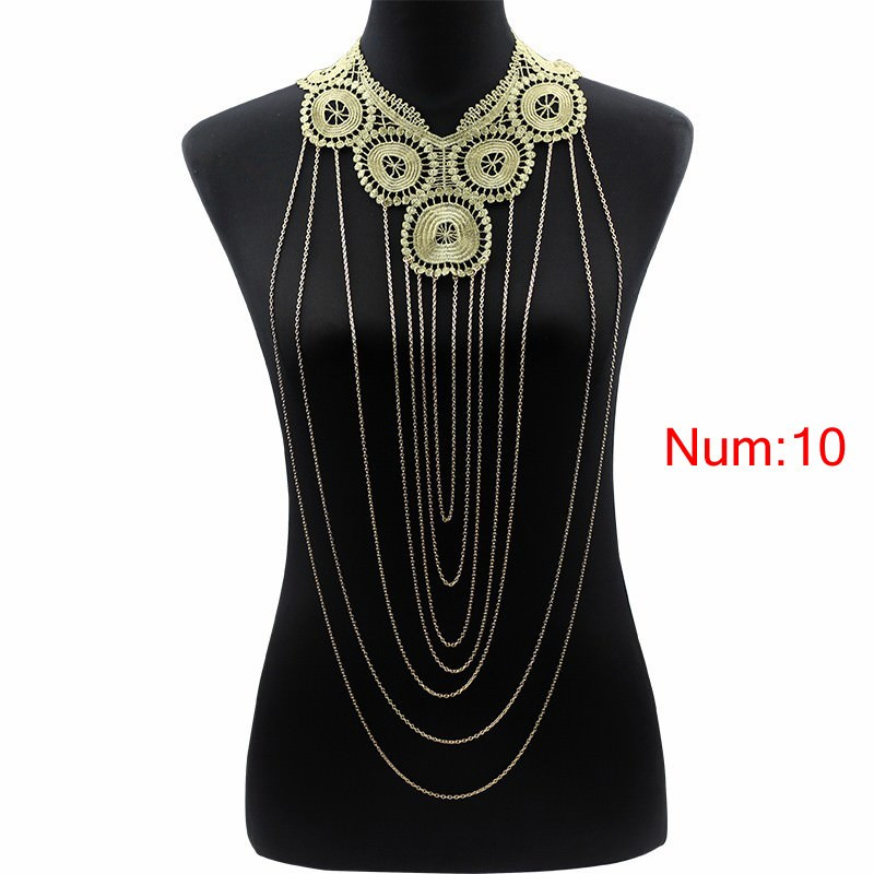 1988-af832383f7934a3942218398ac641e3b Elegant Party Gold/ Black Lace Necklace With Body Chain