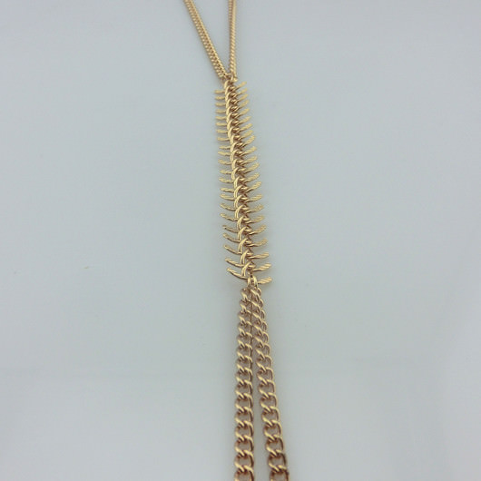 1990-7eae8d86a5fabba881af2caf24de4099 Sexy Punk Gold Body Chain Jewelry With Fish Spine Chain Accent
