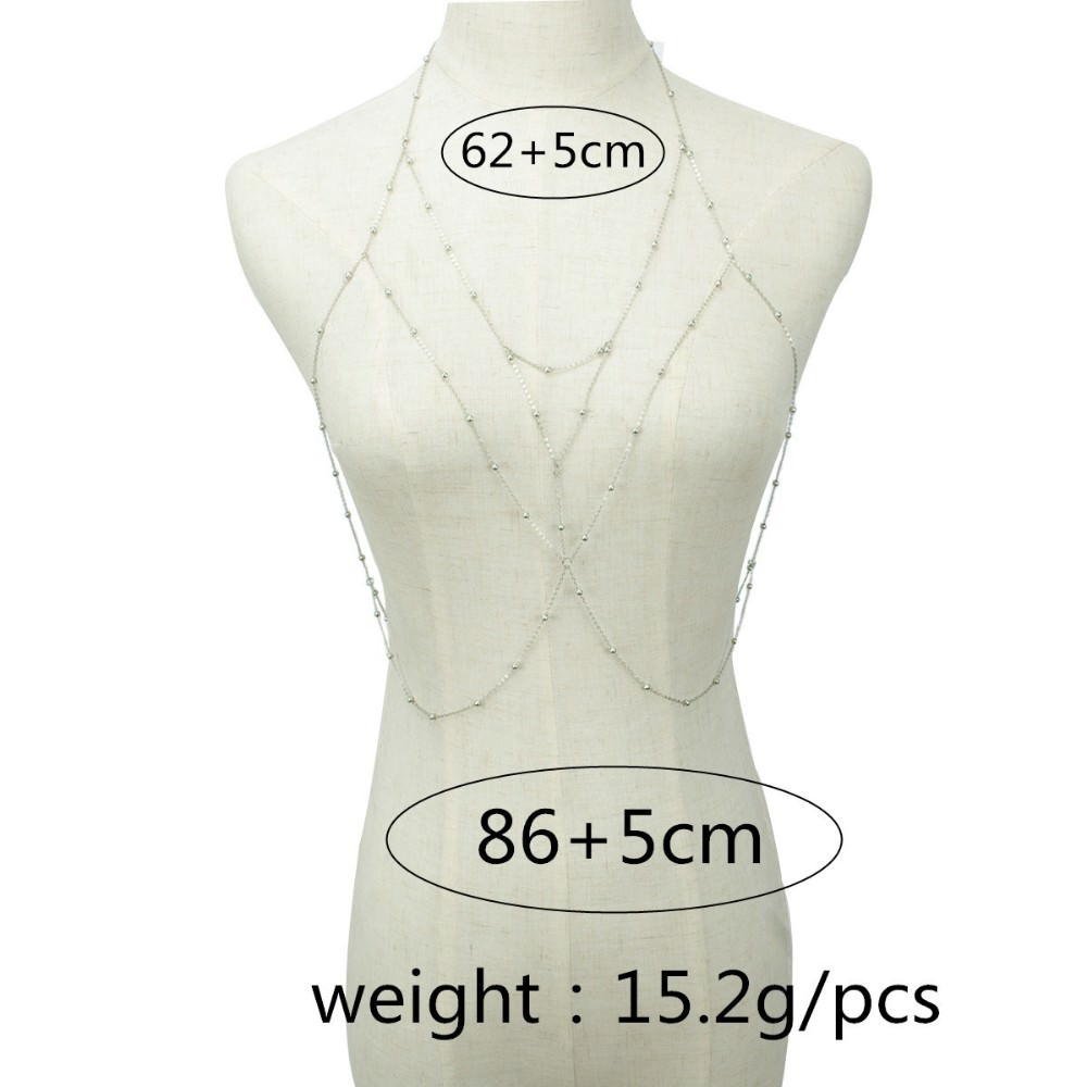 20838-76c2337b0a1c5e90d81d6a98896b59e6 Silver Multilayer Body Chain Harness Necklace For Women