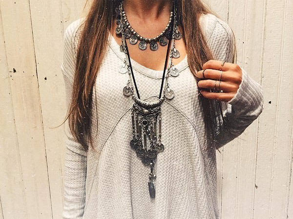 20841-b5e0a91daf02e876b2fd75fb4523849d Long Bohemian Antique Silver Coins and Tassels Necklace For Women