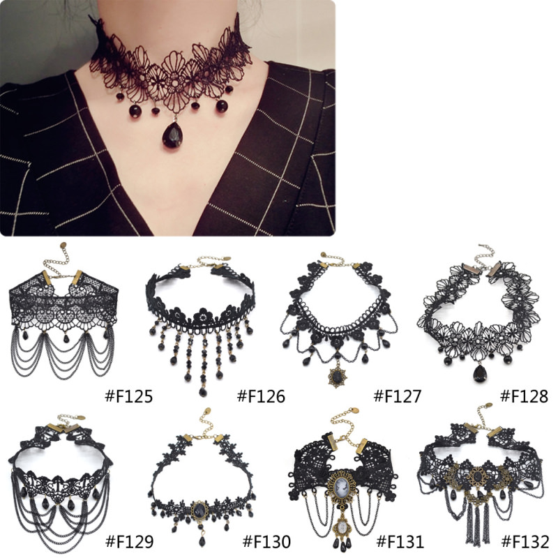4989-a5b1068c330396715925d99f4847ff06 Gothic Victorian Crystal Tassel Tattoo Choker Necklace For Women