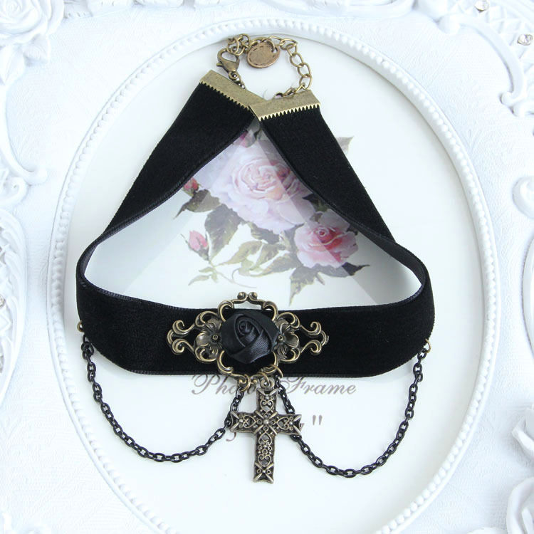 4990-32df4b15dde18d33ce0d91d4f1a11038 Vintage Victorian Style Gothic Lolita Choker Necklace In Various Designs