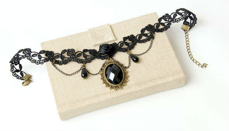 4990-4b153fc954547049d2ce2e0921f817f7 Vintage Victorian Style Gothic Lolita Choker Necklace In Various Designs