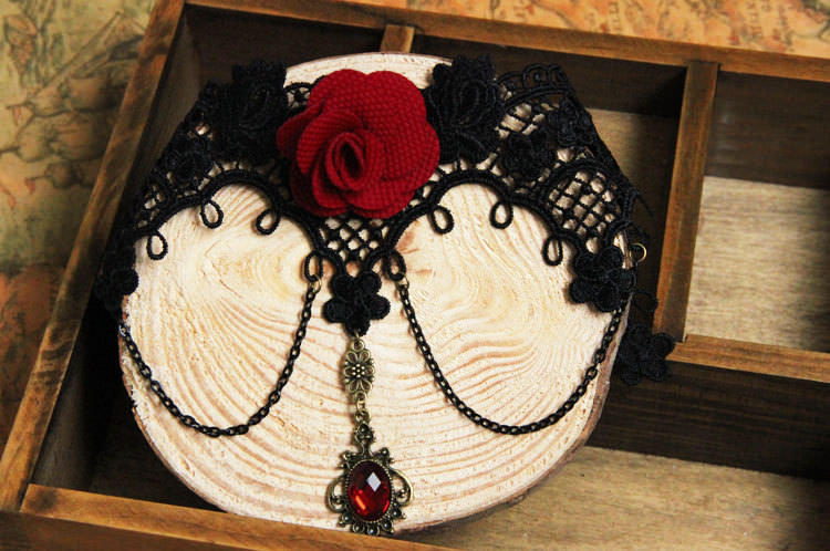 4990-c280aa66bcdd18021bb76b402ec47be9 Vintage Victorian Style Gothic Lolita Choker Necklace In Various Designs