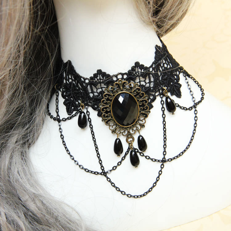 4990-ca8da7e959af0cd013d27d6efd4edd58 Vintage Victorian Style Gothic Lolita Choker Necklace In Various Designs