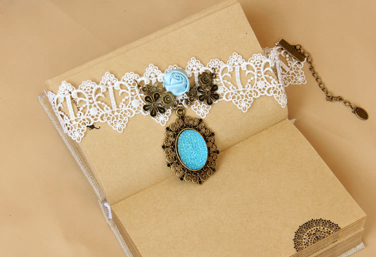 4990-e7b743121f794c76f1e73798e2500dc2 Vintage Victorian Style Gothic Lolita Choker Necklace In Various Designs