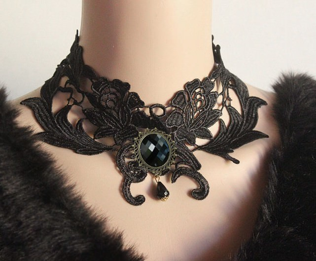 4990-e8f1c9aae3bc03064c1eac9528f84a68 Vintage Victorian Style Gothic Lolita Choker Necklace In Various Designs