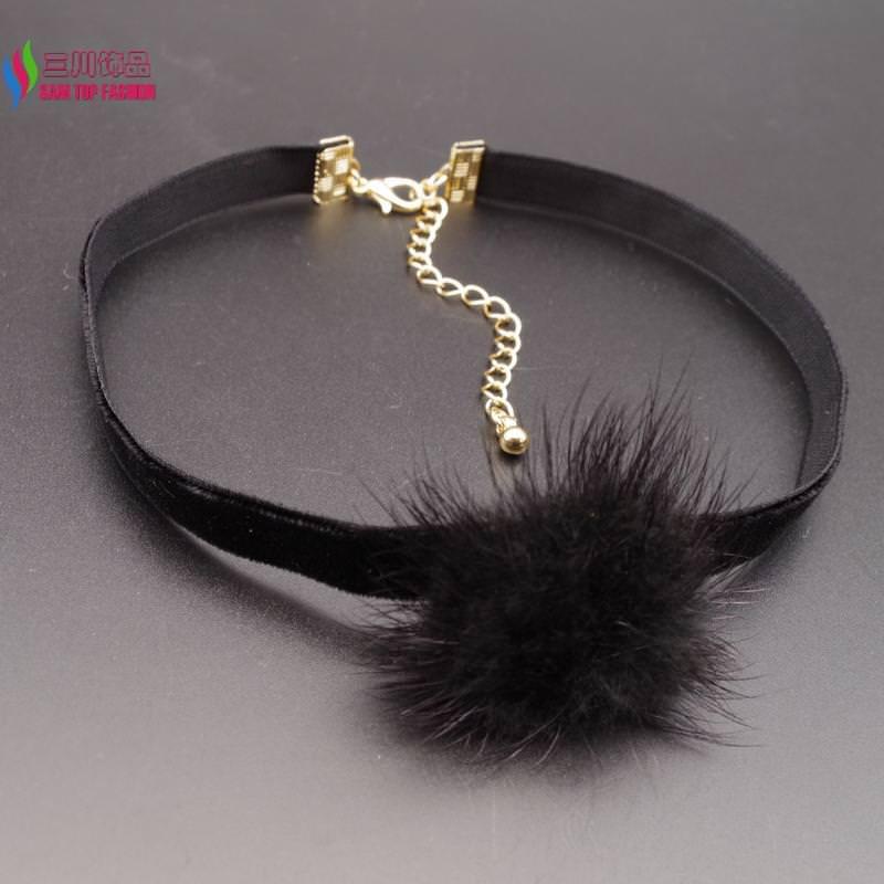 4994-e202de1282985e93d511286dd614d7c5 New Arrival Black Or White Mink Fur Choker Necklace