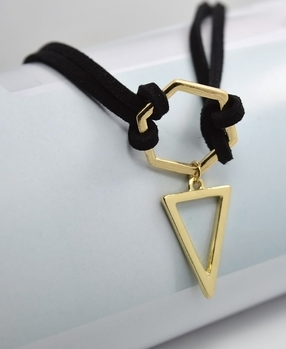 4995-5d77ac45aaac716ad21c845e718026be Double Leather Strap Choker Necklace With Gold Plated Pendant