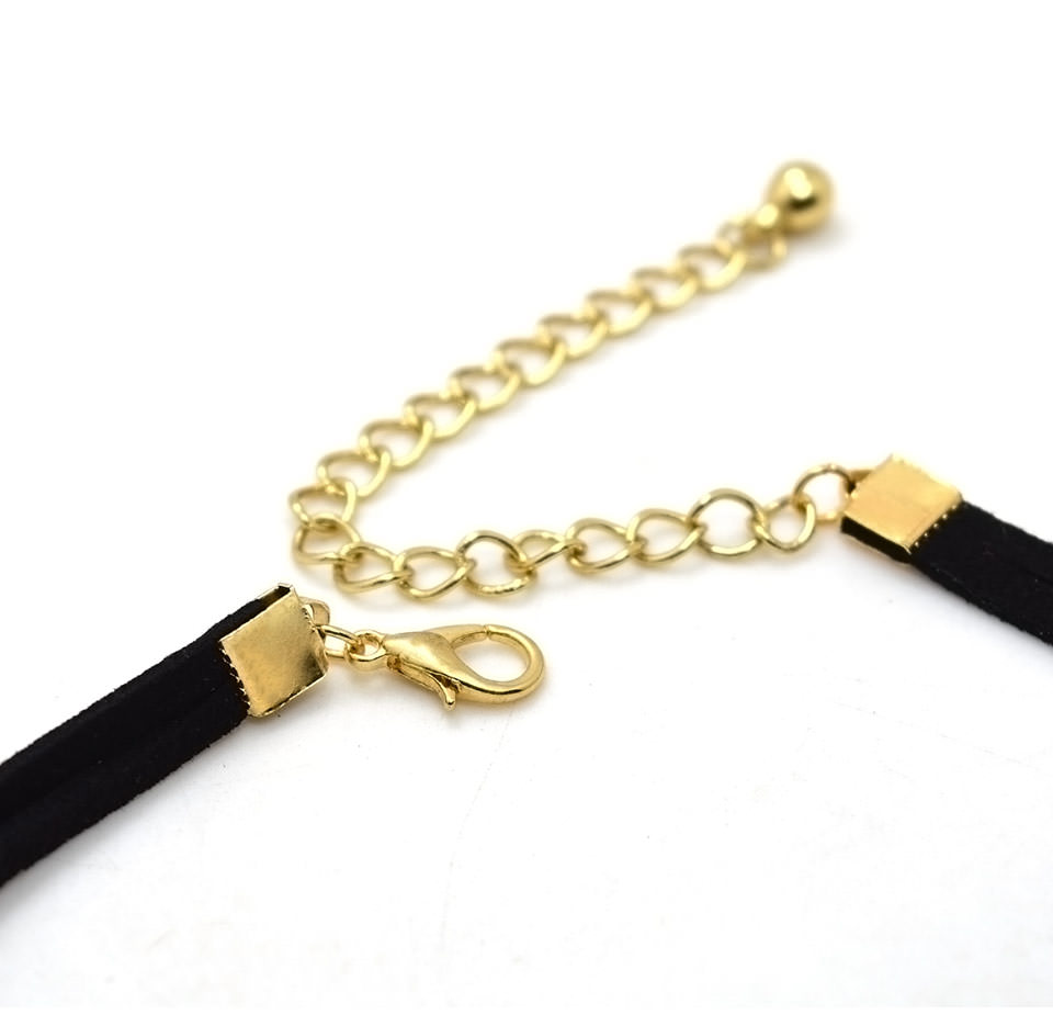 4995-99ad10700881856bea8321e8e60f122c Double Leather Strap Choker Necklace With Gold Plated Pendant