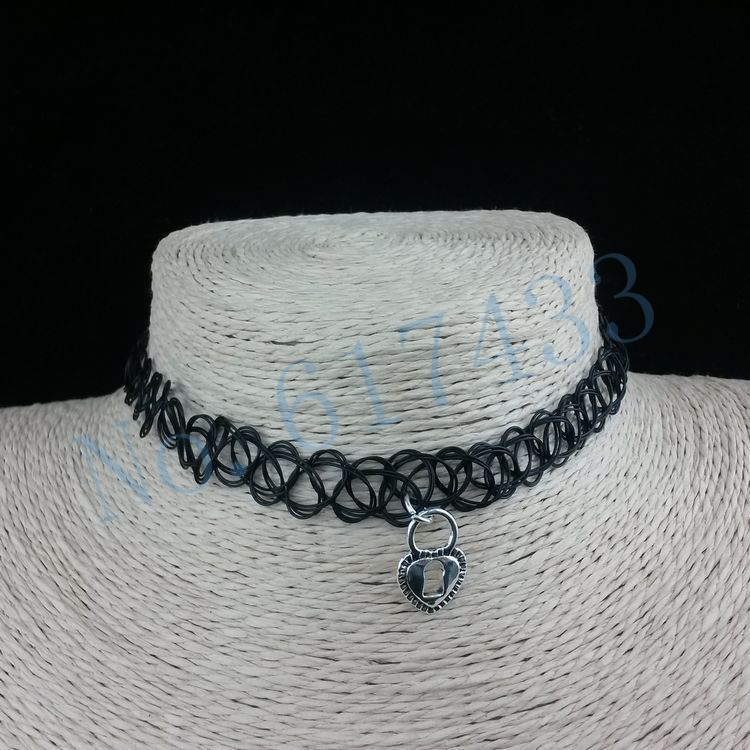 4998-0ff20a31078cd540e63d0fc41f767969 3pcs Hot Selling Stretch Tattoo Choker Necklace With Pendant