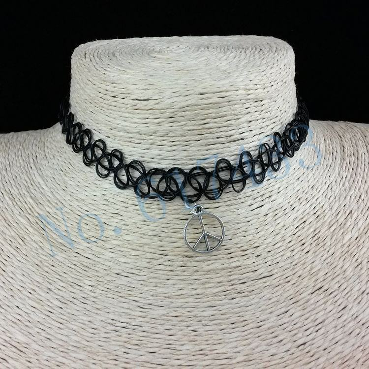 4998-12af08f7c837c99c67ebd947e5129b1e 3pcs Hot Selling Stretch Tattoo Choker Necklace With Pendant