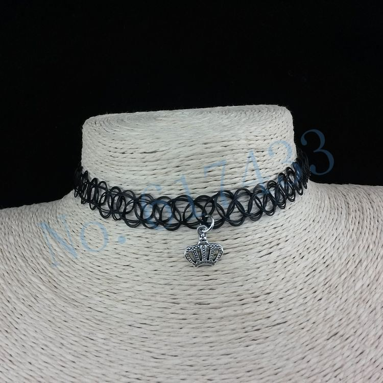 4998-4acfd4a089c5f6297061b4c23aa65805 3pcs Hot Selling Stretch Tattoo Choker Necklace With Pendant