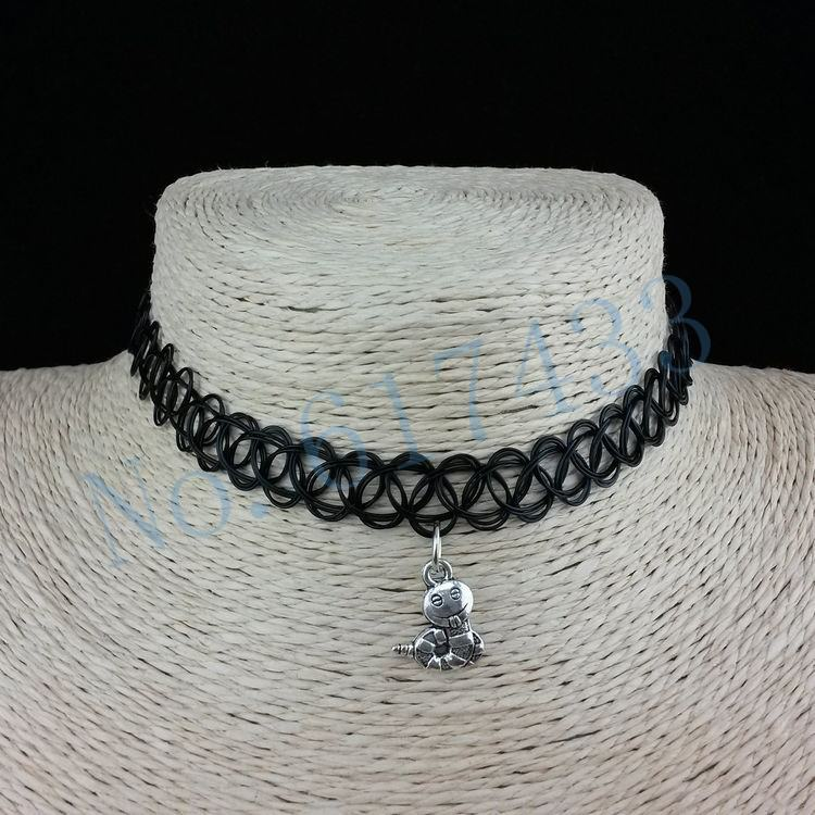 4998-5660eae0120206ce11d7f3d0787ec5ac 3pcs Hot Selling Stretch Tattoo Choker Necklace With Pendant