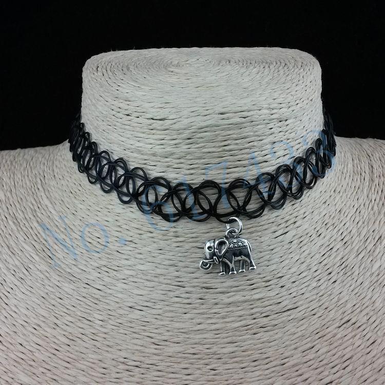 4998-67e7b0075fc26eaa6d8f11297e1fad49 3pcs Hot Selling Stretch Tattoo Choker Necklace With Pendant