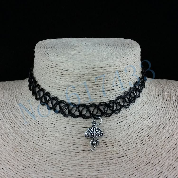4998-7bdf03e03fd7a685032852ad1d79553b 3pcs Hot Selling Stretch Tattoo Choker Necklace With Pendant