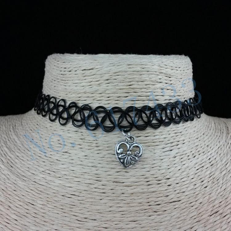 4998-cd43a4cb4ff2b64b67e447669788aa83 3pcs Hot Selling Stretch Tattoo Choker Necklace With Pendant