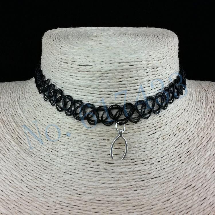 4998-f3e843f65becbc8657136ffff985e9f5 3pcs Hot Selling Stretch Tattoo Choker Necklace With Pendant