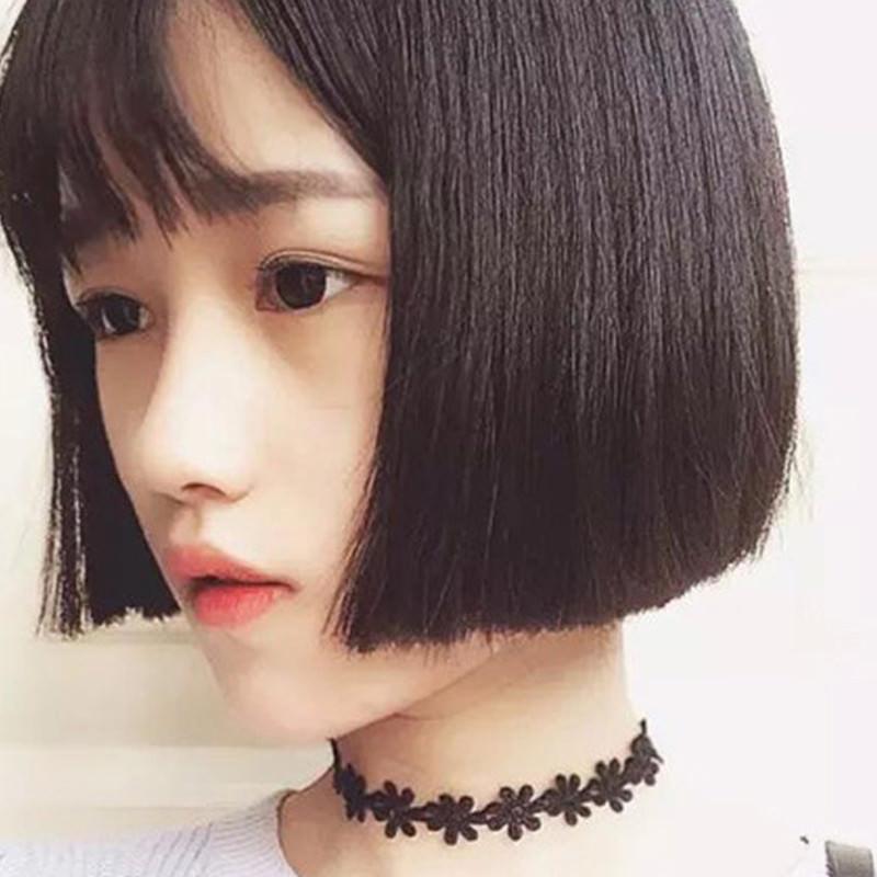 5000-1cecb97b4e9a1b0b35a6ffa24893518b 3pcs Vintage Black/White Daisy Flower Lace Choker Necklace