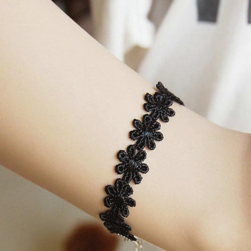 5000-608aaf3bcc63cff08e7581731df8b90d 3pcs Vintage Black/White Daisy Flower Lace Choker Necklace