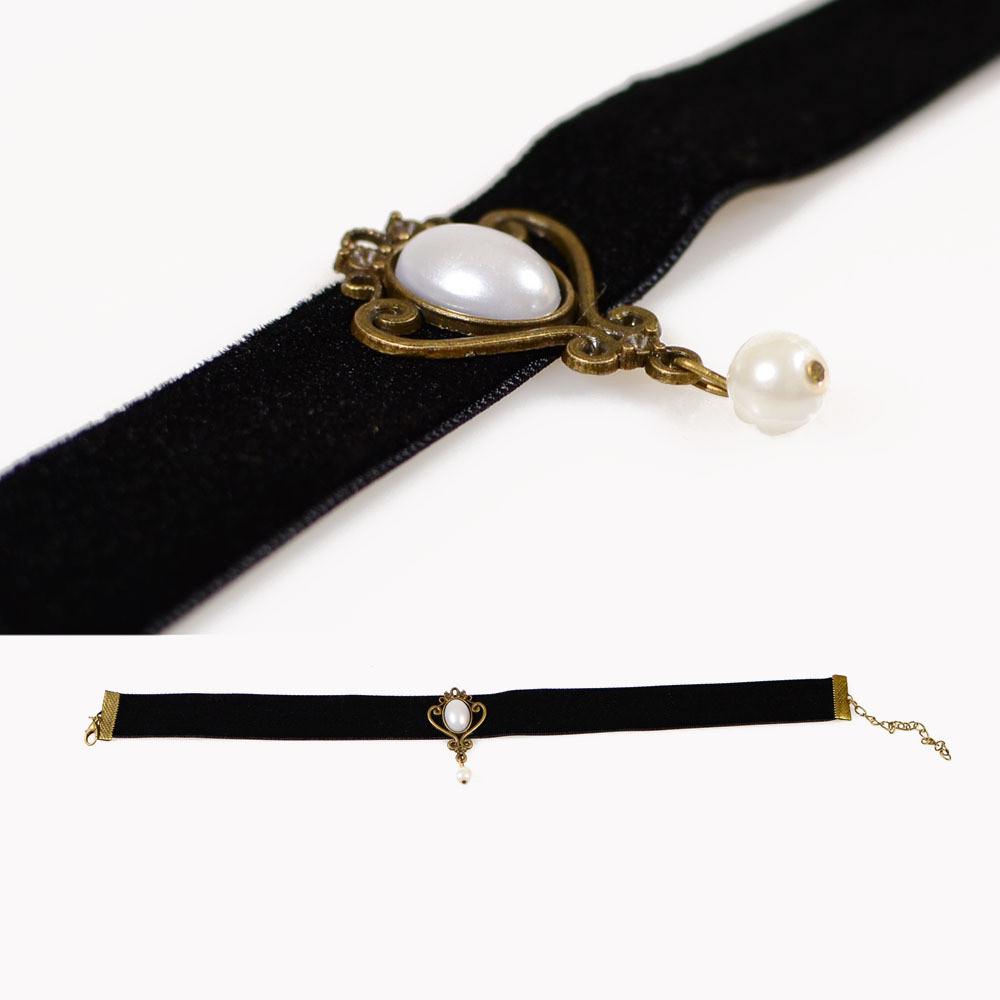 5001-9804de76578f0076217565a1a48a396c Fashion Black Velvet Retro Gothic Collar Choker Necklace Red Rose Flower Charms Pendant For Women Jewelry Collier Femme Bijoux