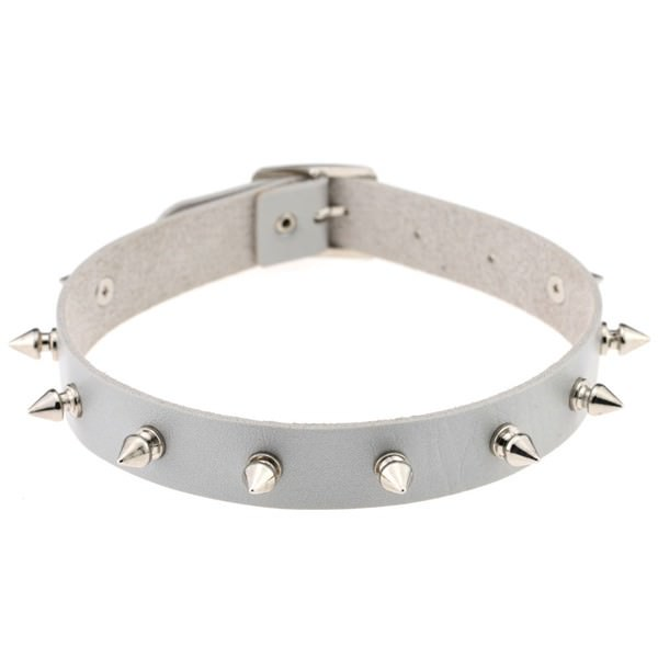 5012-475cfba403b7c76318cbc8fe41c9b55d Punk Style Spiked Leather Choker Necklace In Different Colors