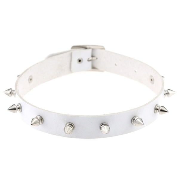 5012-56c1487fd111b5dbd87af8934d1166f1 Punk Style Spiked Leather Choker Necklace In Different Colors