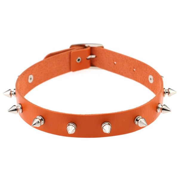 5012-8f976e05439a37ddea3359e246c4168f Punk Style Spiked Leather Choker Necklace In Different Colors