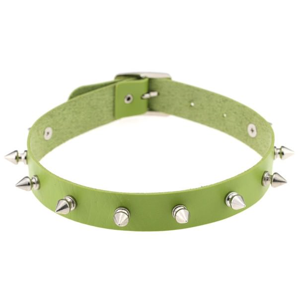 5012-b3b2ee731e03113b7f1adba10d9ed231 Punk Style Spiked Leather Choker Necklace In Different Colors