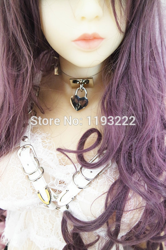 5014-0ee0bfd532ea7da5da4566c651bcd96e Cute Lolita Spiked Leather Choker Necklace With Lock And Key