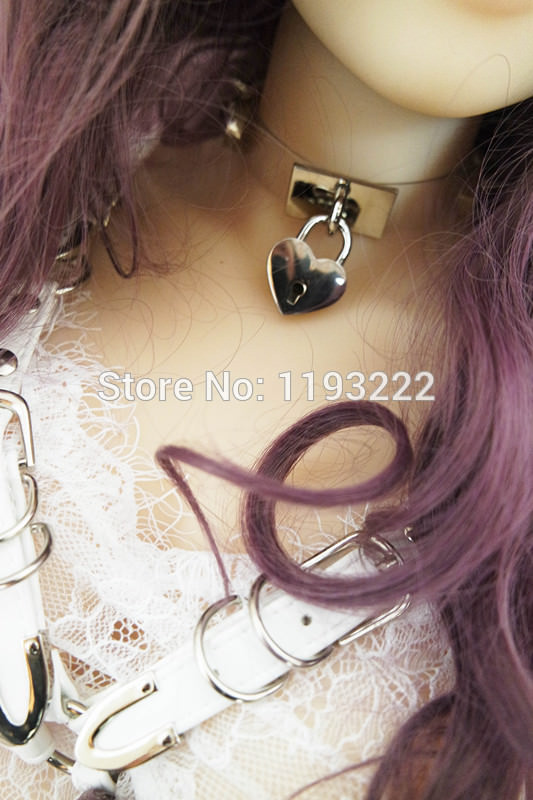 5014-7d442ab4d8b48c7d6fb170467ce59c80 Cute Lolita Spiked Leather Choker Necklace With Lock And Key