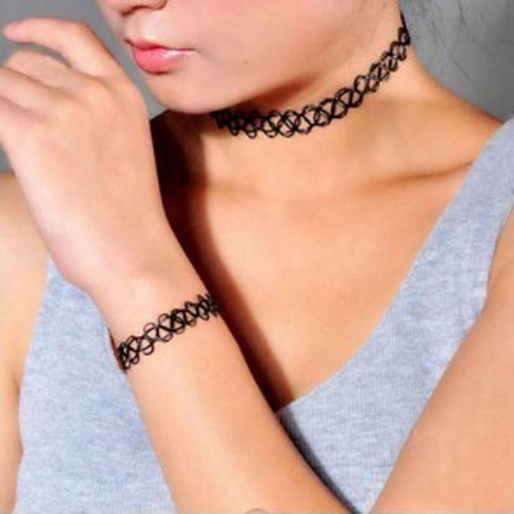 5023-caa9c8ea2fbac9922a413cf3e594d3fe Punk Gothic Stretch Tattoo Choker Necklace Jewelry
