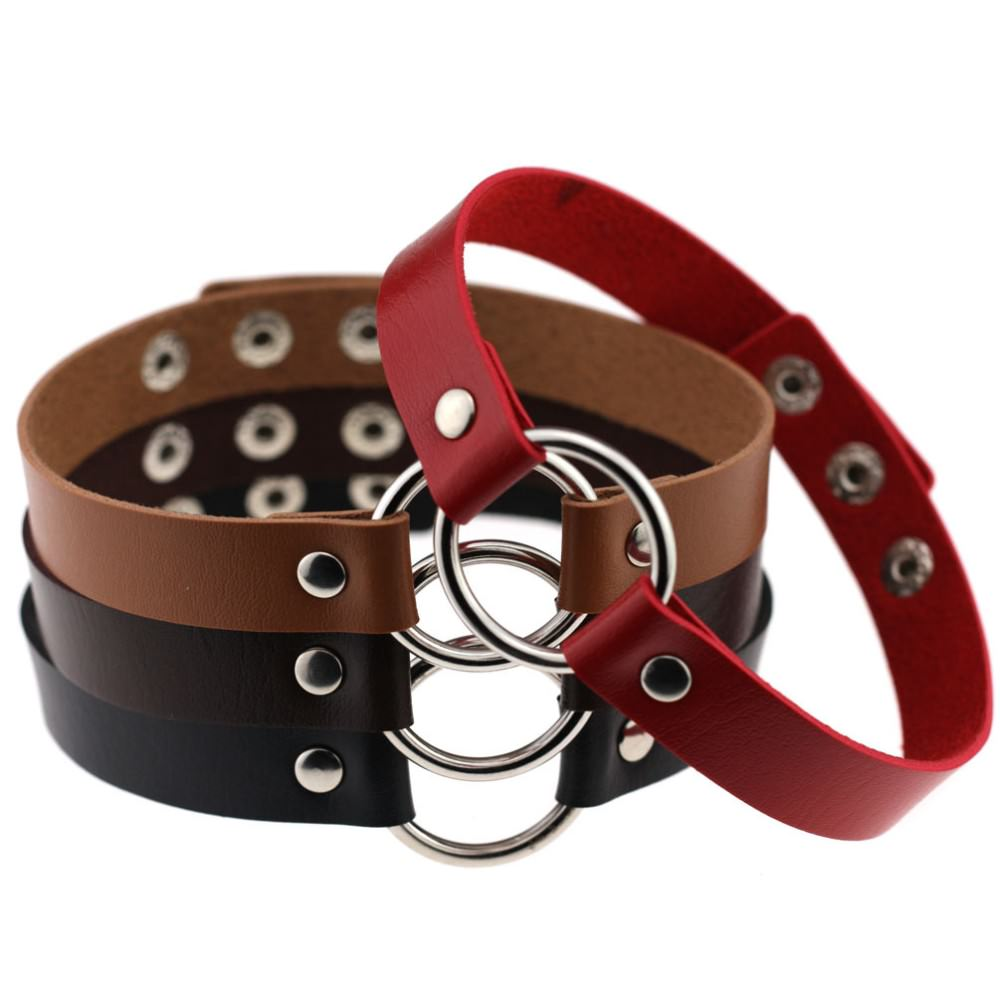 5025-f31f34614bd6260b4445041cd729a9f0 Harajuku Grunge Gothic Anime Leather Choker In Various Colors