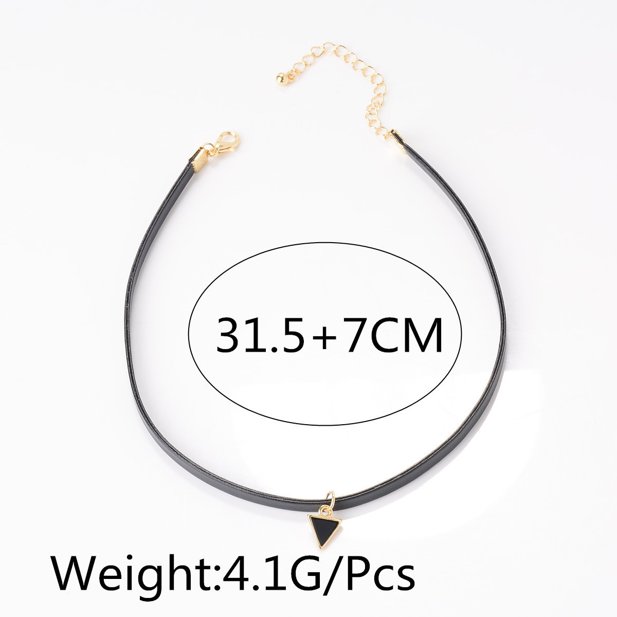 5028-2c875074ffb6e2f2a2d693c32acc6810 Trendy Punk Style Leather Rope Choker Necklace With Triangle Pendant