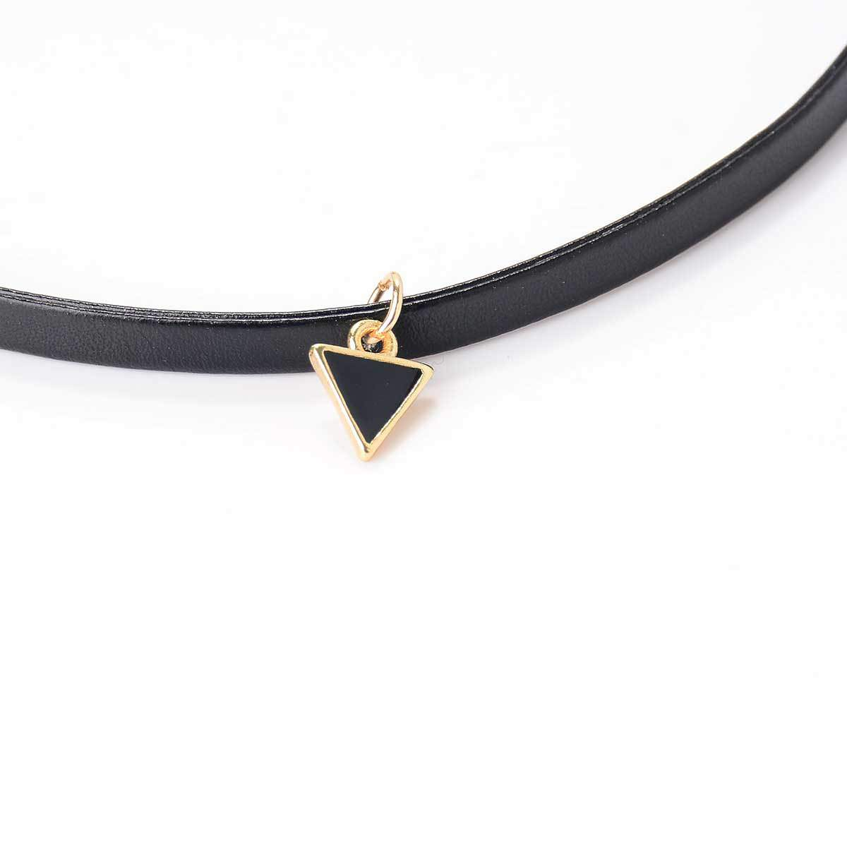 5028-538dbce4c0d2c90de750f75141d8bb5b Trendy Punk Style Leather Rope Choker Necklace With Triangle Pendant