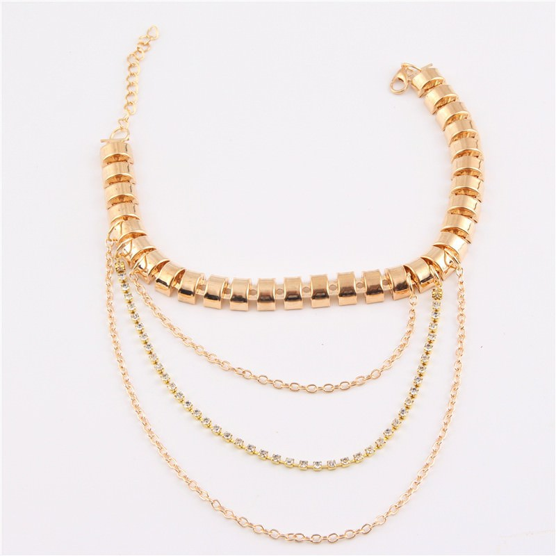 7053-36d732b9bab21b12efa9e3efe9f338c5 Gold Anklet Jewelry With Layered Chain Heel Drape