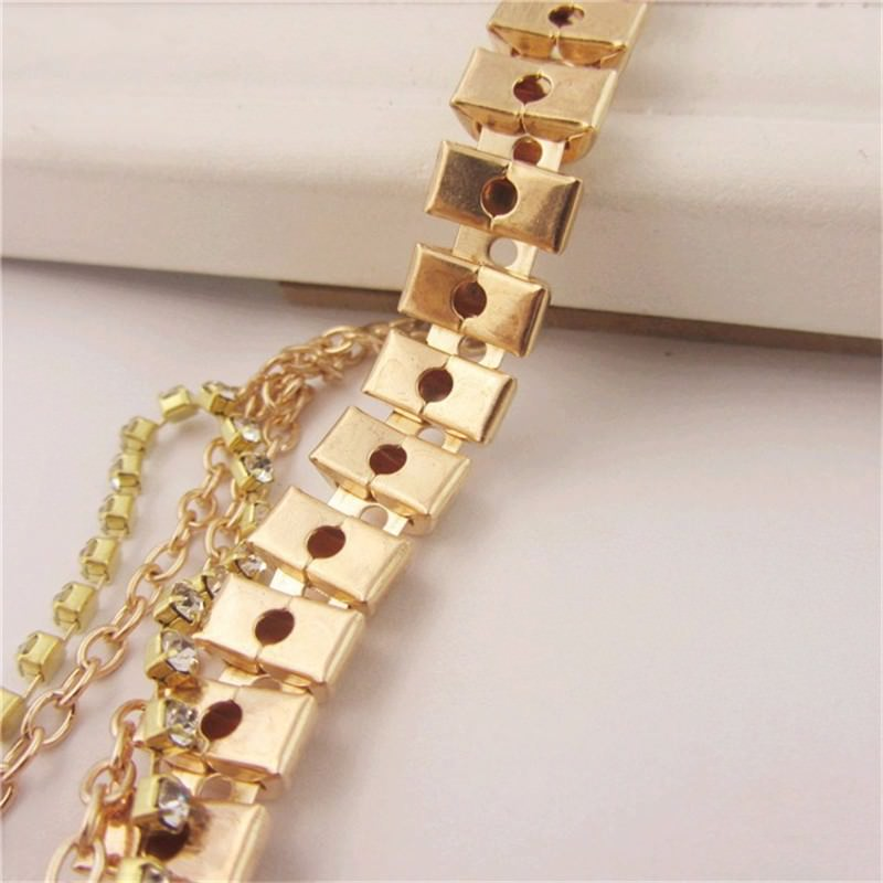 7053-ac8473f4bb3e7c12abe5daab79ce8ccd Gold Anklet Jewelry With Layered Chain Heel Drape