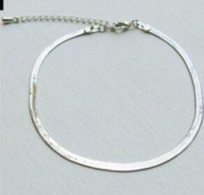 7064-ca8e746fdf38da9975c8faa83bdd74f6 Elegant Gold/ Silver Plated Herringbone Chain Anklet Jewelry