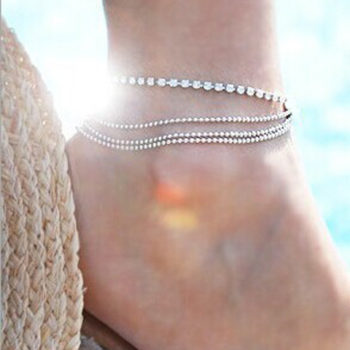 Fashionable Multi-layer Chain Beach Anklet Jewelry