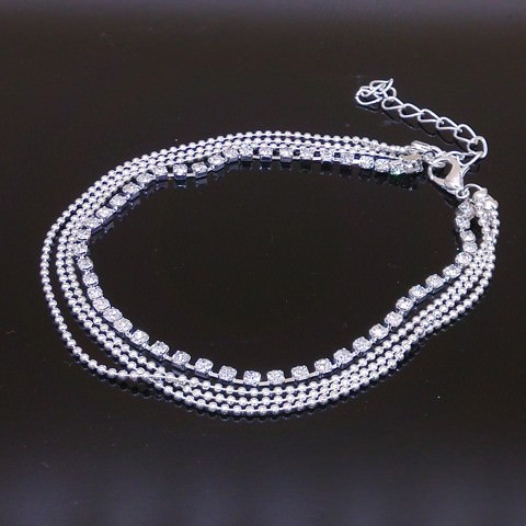 7071-0af14bac3602aebf6b1a666523865636 Fashionable Multi-layer Chain Beach Anklet Jewelry