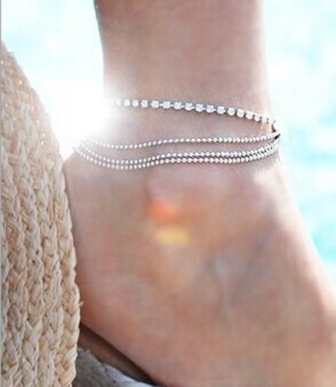 7071-92233044225bbeec59bd7ac9a1f9b58f Fashionable Multi-layer Chain Beach Anklet Jewelry