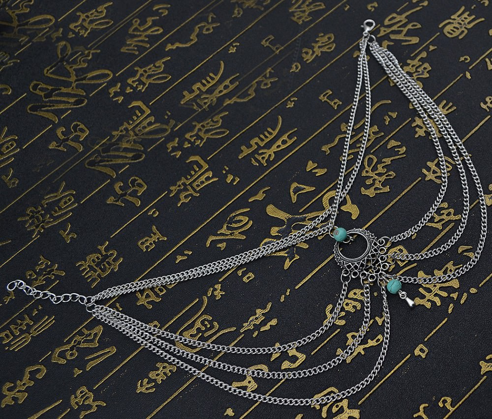 7072-9973fee7736136e633bc42b083b2bc87 Boho Multi Chain Layer Tassle Anklet Jewelry